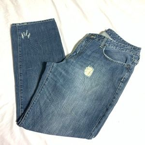 Kenneth Cole Distressed Denim Jeans